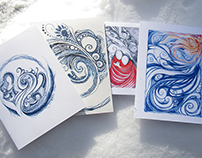 Winter Card Designs 2014 - 2017