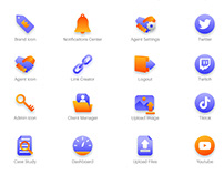 User Interface Flat Vector Icons for Churro.io