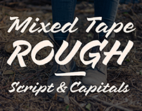 Mixed Tape Rough Font Duo