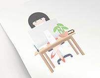 The set of illustrations for social media