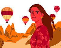 Cappadocia turkey illustration series