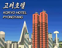 Pyongyang Koryo Hotel - 3D