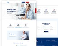 Business Loan Lender Website PSD Template