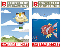 Team Rocket Recruitment posters