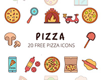 Pizza Vector Free Icon Set