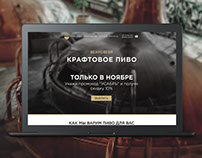 craftbeer brewery landing page