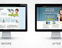 Purely Hosting Website Homepage Redesign