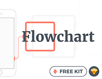 Flowchart kit - Free mobile wireframing kit for Sketch
