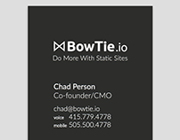 Business cards for BowTie.io