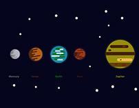Solar system / Flat design