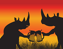 Takes more than a BEER to SAVE a RHINO