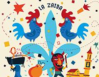 Portada programa fiestas San Roque 2014, La Zaida