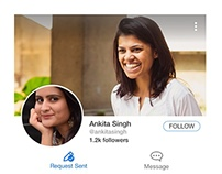 Profile page - Visual Design for Roposo App