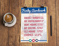 Funky Aardvark Promotional Posters
