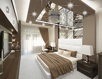 Bedroom design. Belgorod, Russia.