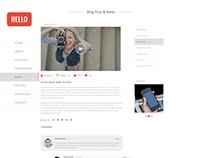 App Landing Blog PSD Theme