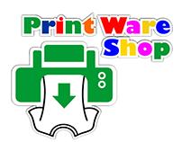 Logos for Print Ware shop brand