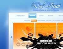 Da Vinci Website Concept