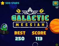 Galactic Messiah menu design game ui