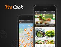 PreCook App design