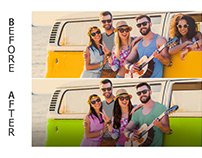 Photoshop Editing   Friends Celebrate Friendship
