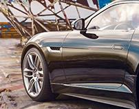 Jaguar F-type in Teufelsberg