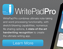 iOS App Icon & Banner–WritePad Pro