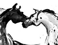 PAPER HORSES B&W