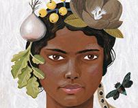 Botanical portraits for a garden festival