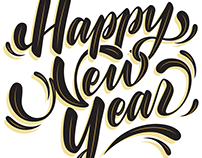 Happy New Year - Digitized Lettering