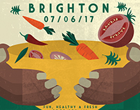 VegFest Illustrated Poster