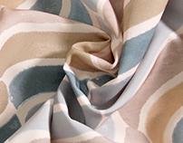 Waves, Digitally Printed Textile Design