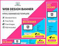 Web Design Banner- HTML5 Ad Templates