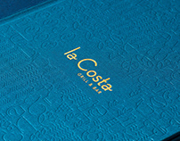 Restaurant 'LA COSTA' menu design
