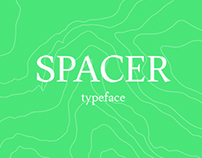 Spacer – body text typeface