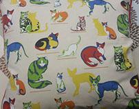 Duralee/Secret Celebrity- Cat Print