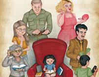 Matilda mock cover and interior illustrations