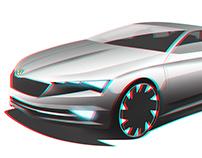 Skoda Concept Design Render