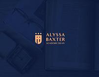 Alyssa Baxter- Academic Dean Brand Identity
