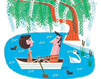 messing about on the river... magazine illustration