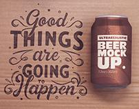 Paperboard Beer Can Mockup