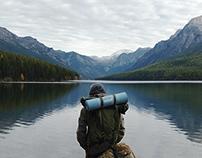 Bowman Lake Panorama - Glacier National Park