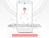 Kahan hai? - Friends and family locator app