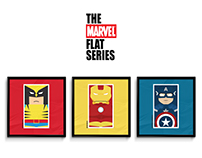 the MARVEL flat series / poster collection