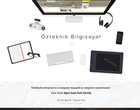 Özteknik Bilgisayar - Web Interface Design