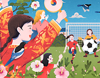 2019 FIFA Women's World Cup Google Doodle - Korea