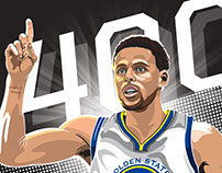 Stephen Curry 400 3 pointers!