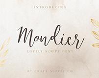 Mondier – Lovely Script Font (Free Download)