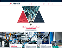 Braeuer Logo//Website layout