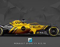 2018 Renault F1 Concept Liveries.